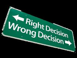 decision sign